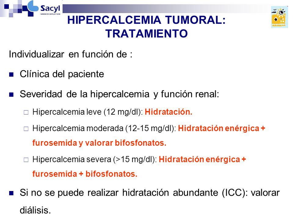 HIPERCALCEMIA TUMORAL: TRATAMIENTO