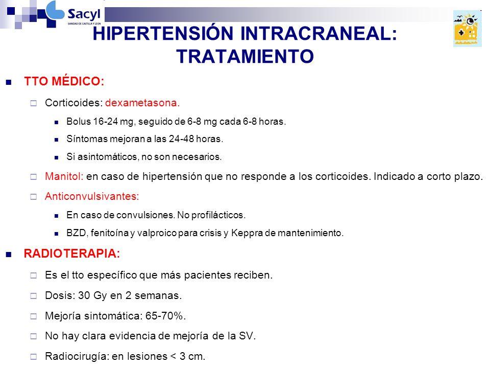 HIPERTENSIÓN INTRACRANEAL: TRATAMIENTO