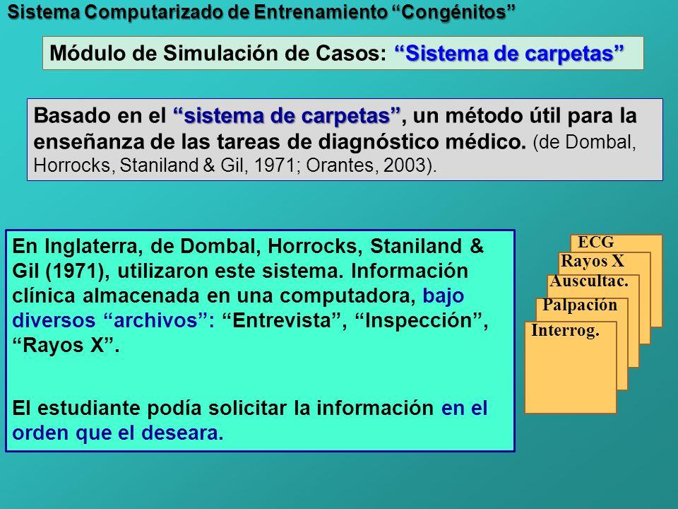 Módulo de Simulación de Casos: Sistema de carpetas