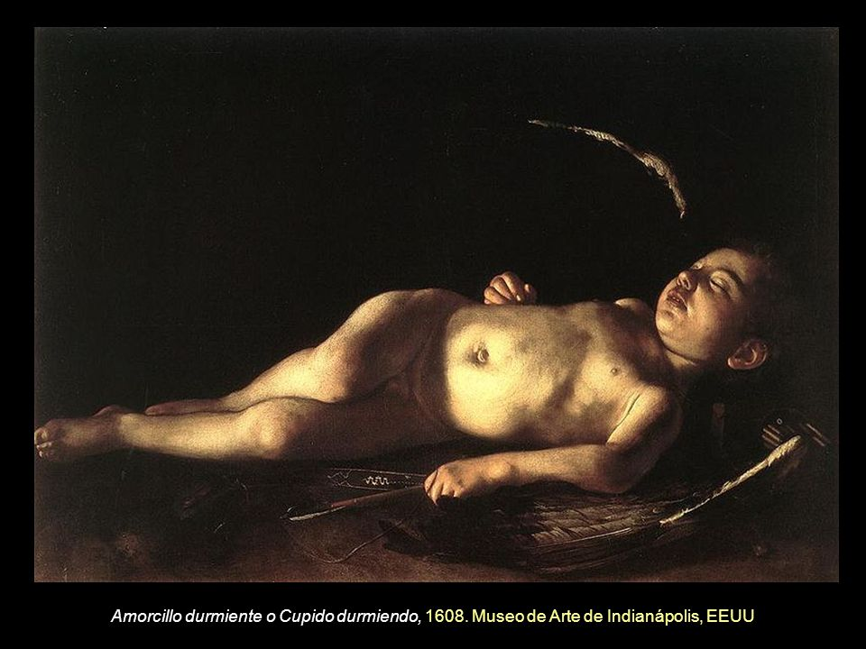 Amorcillo durmiente o Cupido durmiendo, 1608
