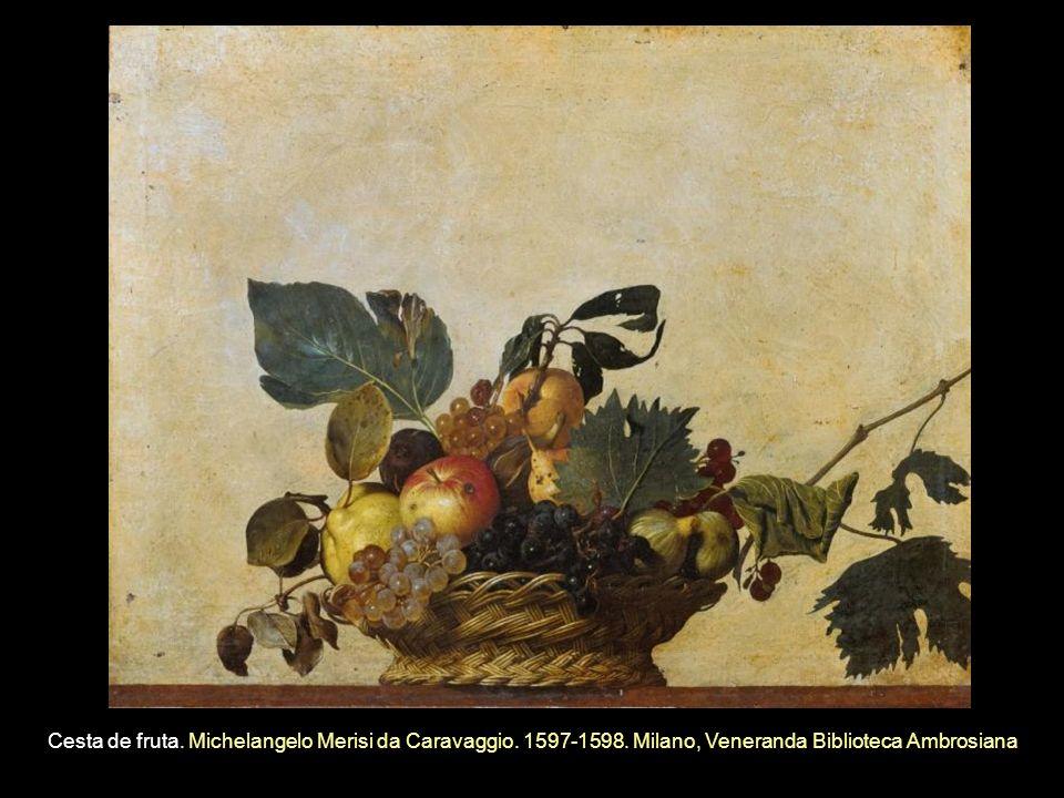 Cesta de fruta. Michelangelo Merisi da Caravaggio. 1597-1598