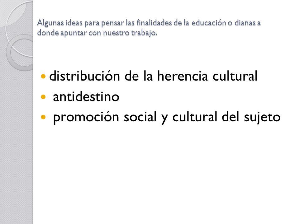 distribución de la herencia cultural antidestino