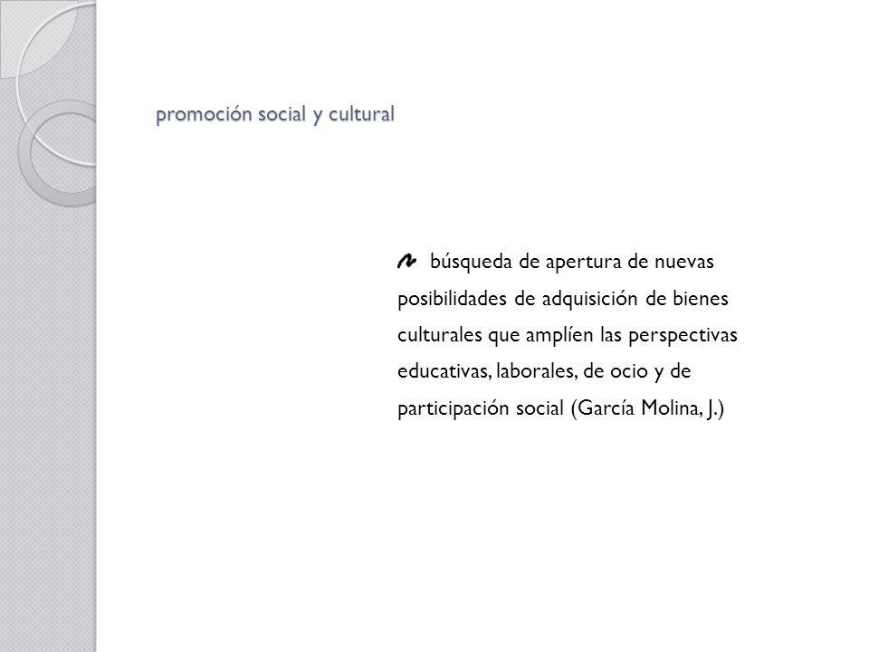 promoción social y cultural