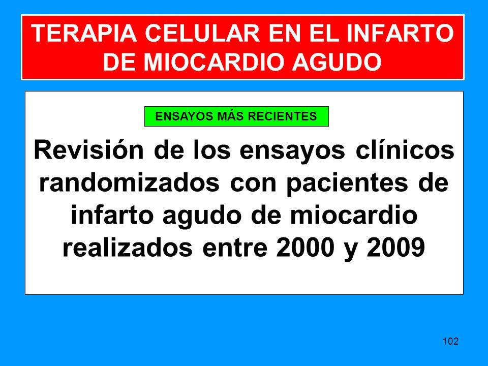 TERAPIA CELULAR EN EL INFARTO DE MIOCARDIO AGUDO