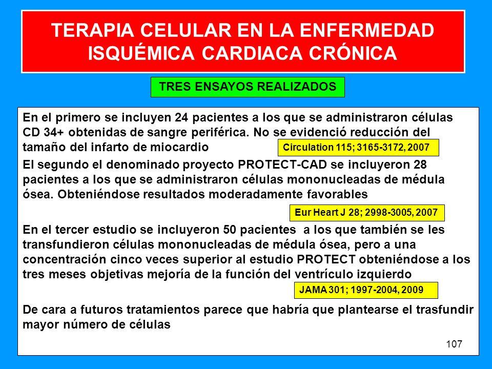 TERAPIA CELULAR EN LA ENFERMEDAD ISQUÉMICA CARDIACA CRÓNICA