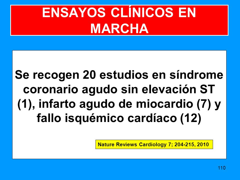 ENSAYOS CLÍNICOS EN MARCHA