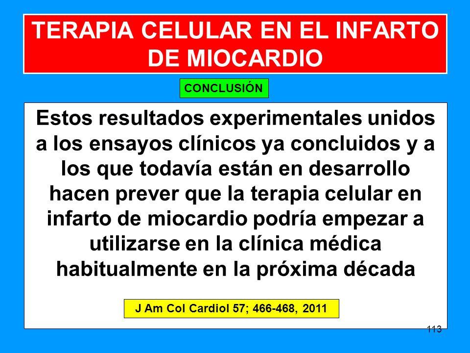 TERAPIA CELULAR EN EL INFARTO DE MIOCARDIO