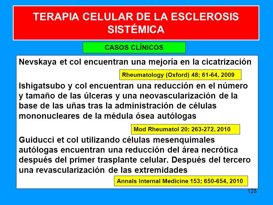TERAPIA CELULAR DE LA ESCLEROSIS SISTÉMICA