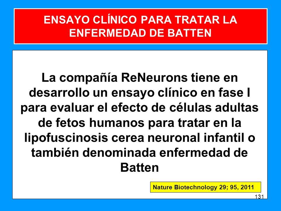 ENSAYO CLÍNICO PARA TRATAR LA ENFERMEDAD DE BATTEN