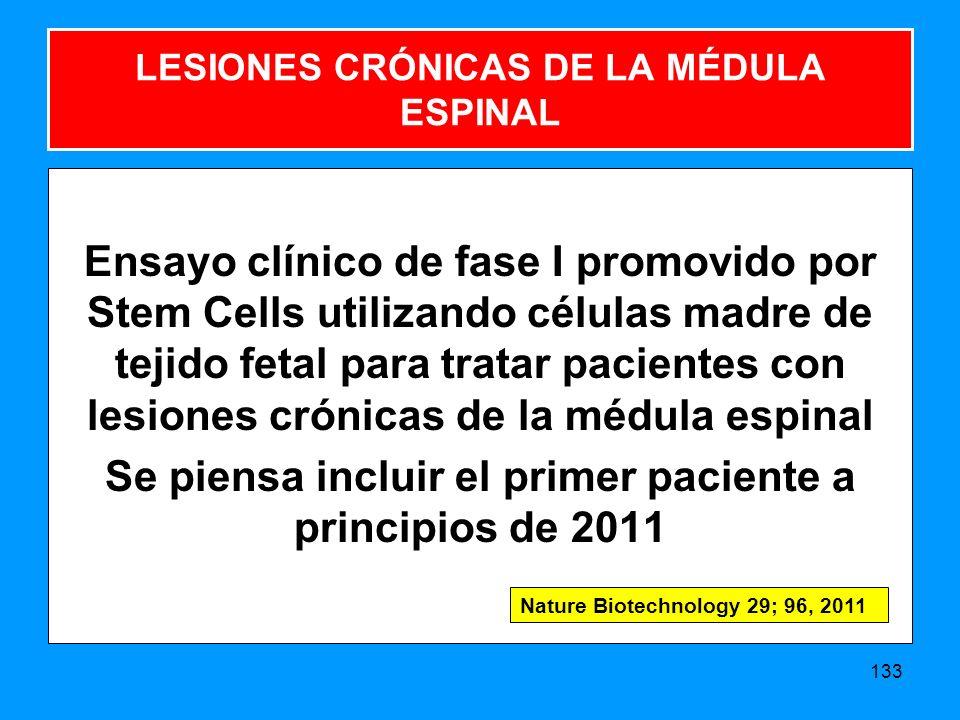 LESIONES CRÓNICAS DE LA MÉDULA ESPINAL
