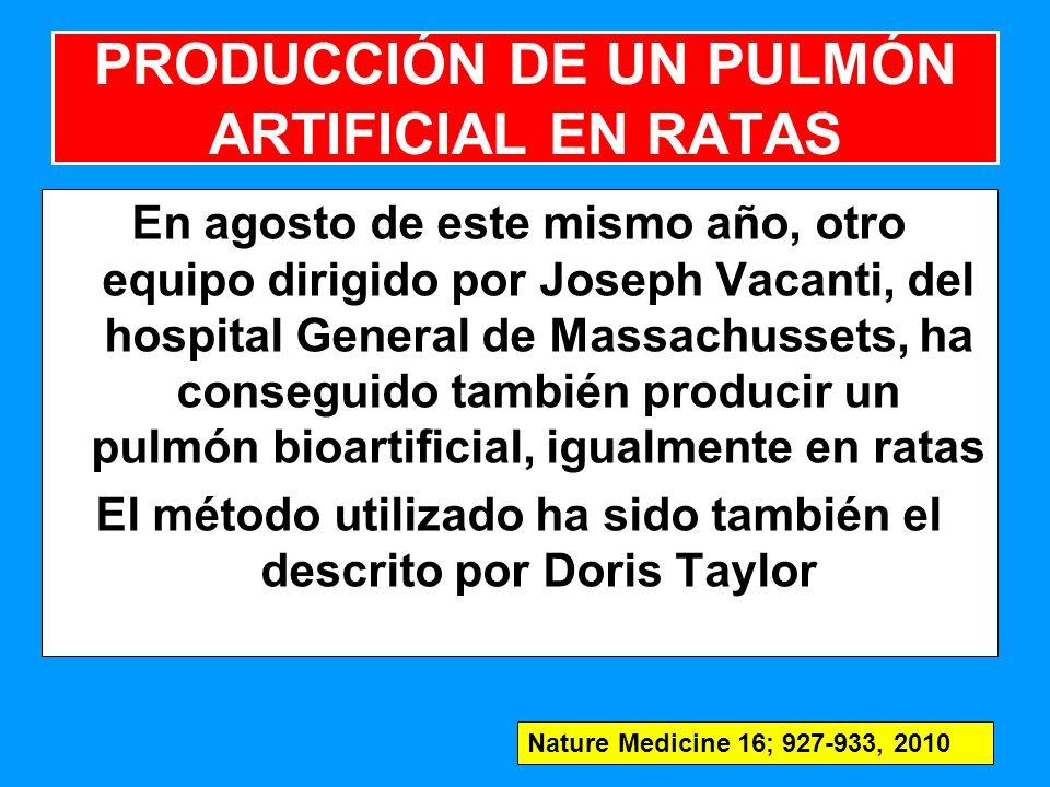 PRODUCCIÓN DE UN PULMÓN ARTIFICIAL EN RATAS