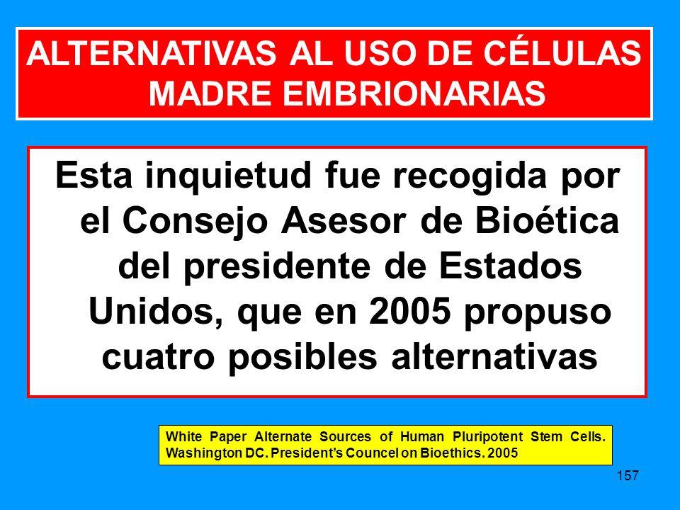 ALTERNATIVAS AL USO DE CÉLULAS MADRE EMBRIONARIAS