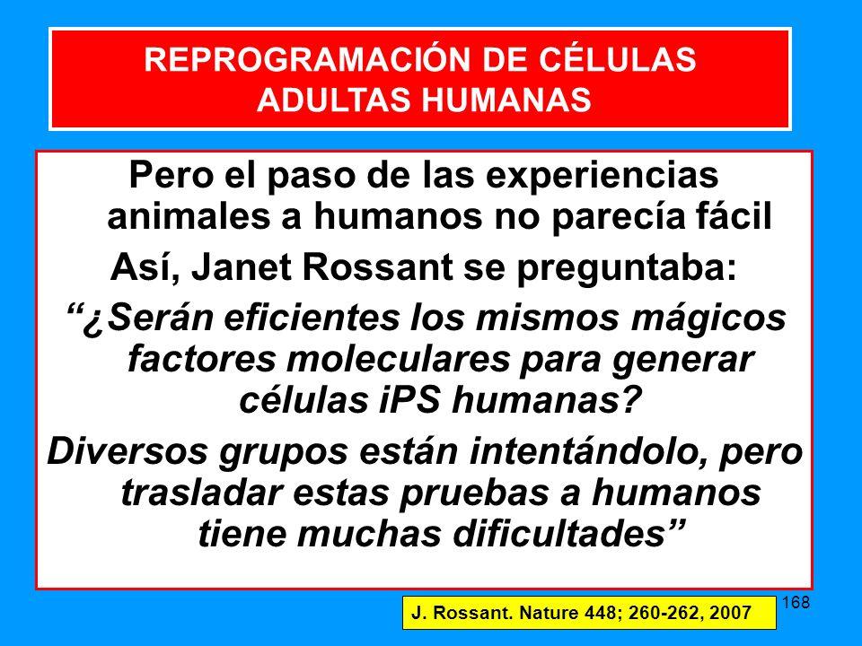 Pero el paso de las experiencias animales a humanos no parecía fácil