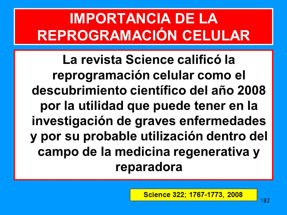 IMPORTANCIA DE LA REPROGRAMACIÓN CELULAR