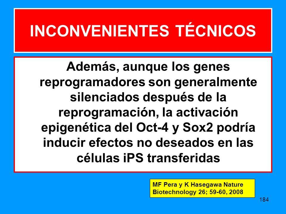 INCONVENIENTES TÉCNICOS