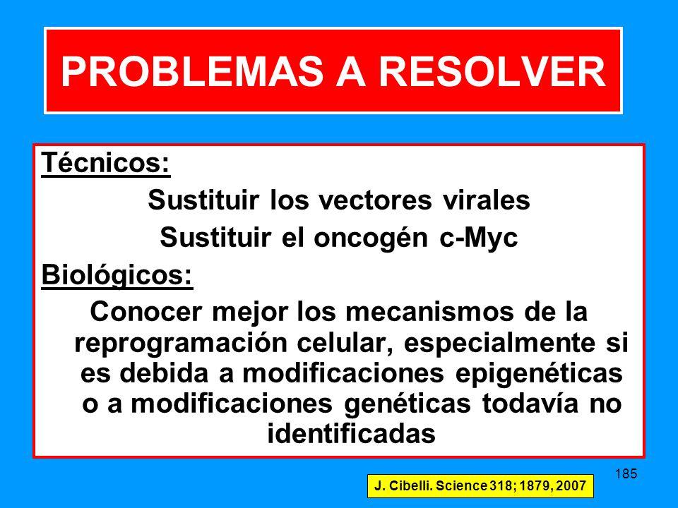 Sustituir los vectores virales Sustituir el oncogén c-Myc