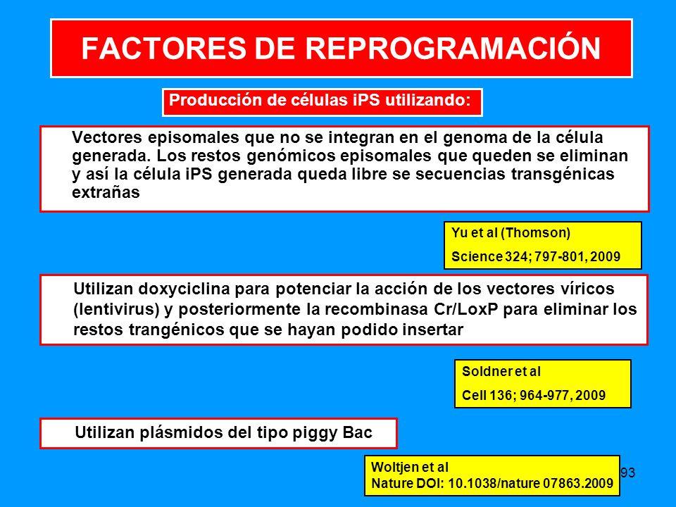 FACTORES DE REPROGRAMACIÓN
