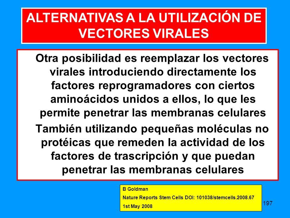 ALTERNATIVAS A LA UTILIZACIÓN DE VECTORES VIRALES