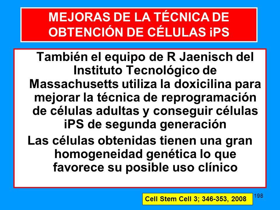MEJORAS DE LA TÉCNICA DE OBTENCIÓN DE CÉLULAS