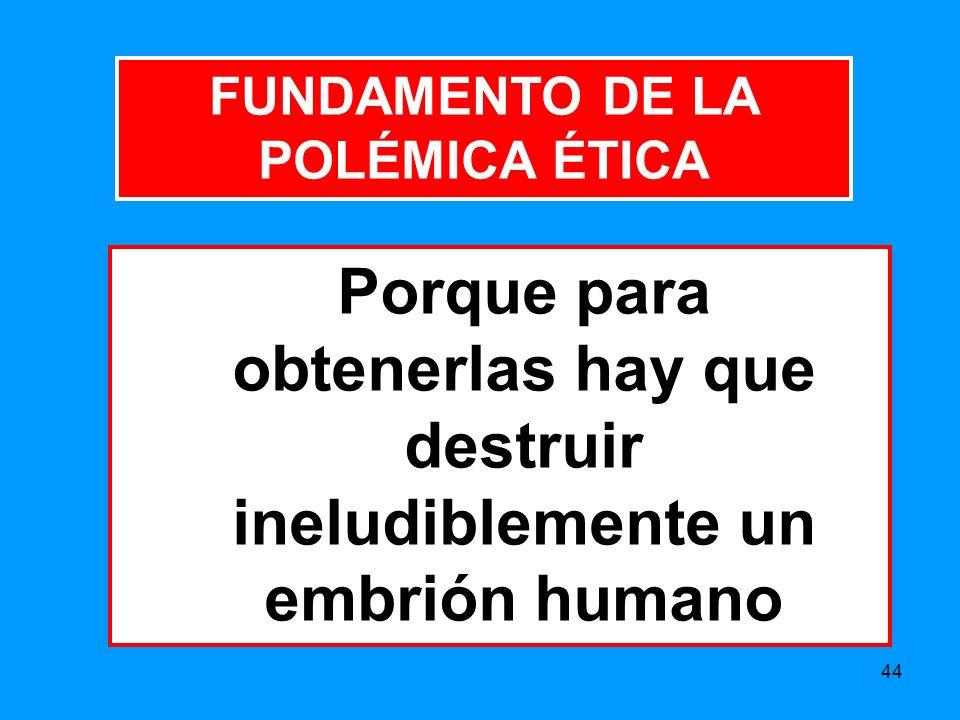 FUNDAMENTO DE LA POLÉMICA ÉTICA