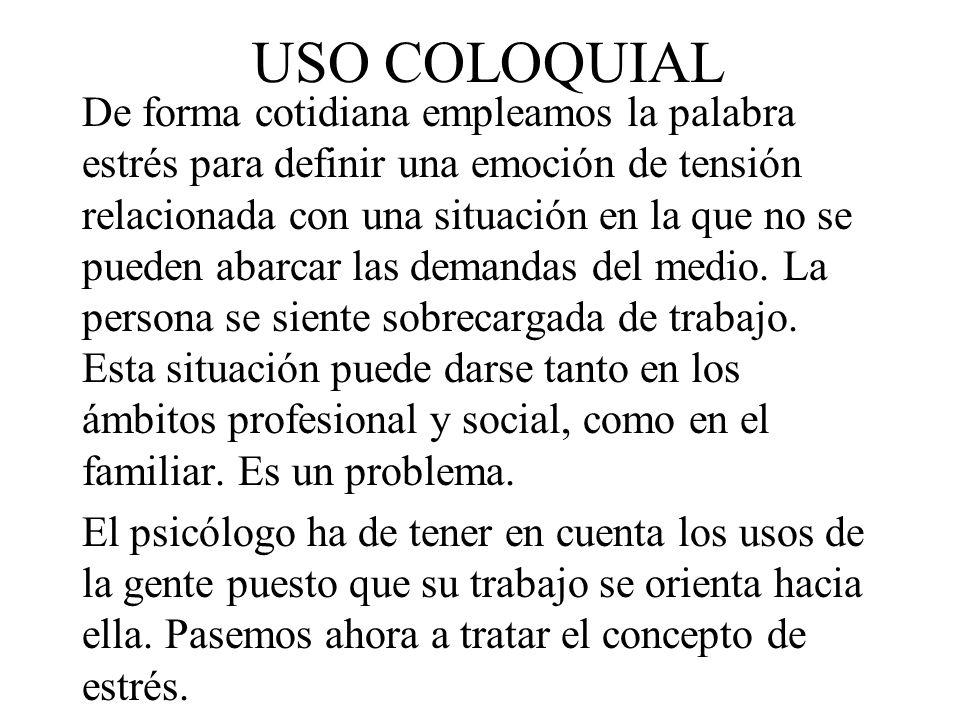 USO COLOQUIAL