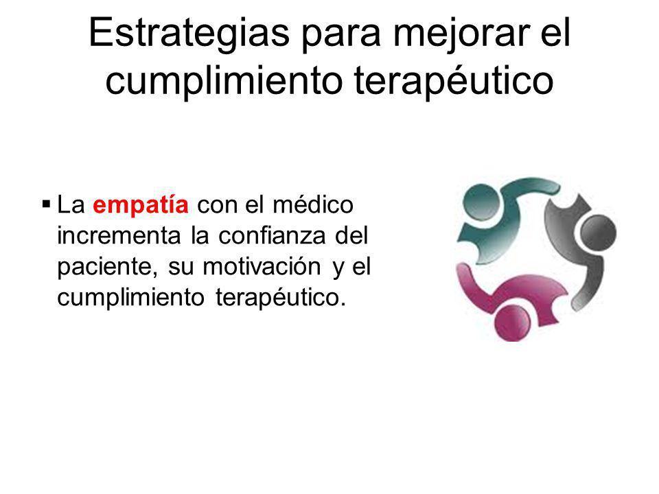 Estrategias para mejorar el cumplimiento terapéutico