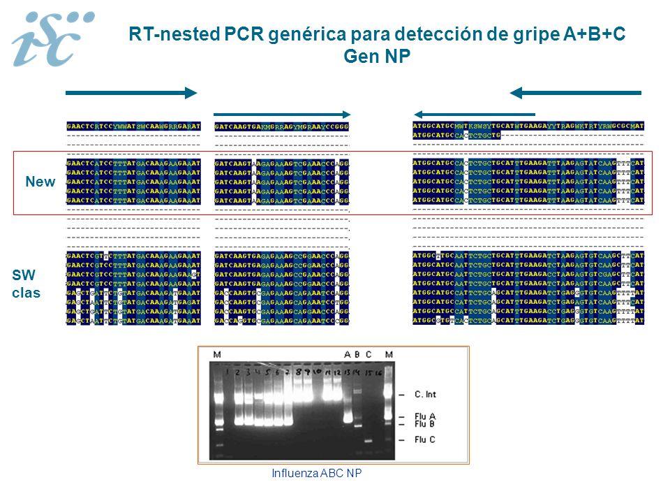 RT-nested PCR genérica para detección de gripe A+B+C