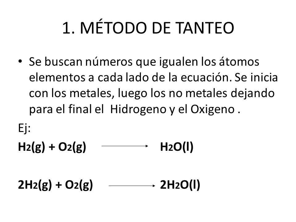 1. MÉTODO DE TANTEO