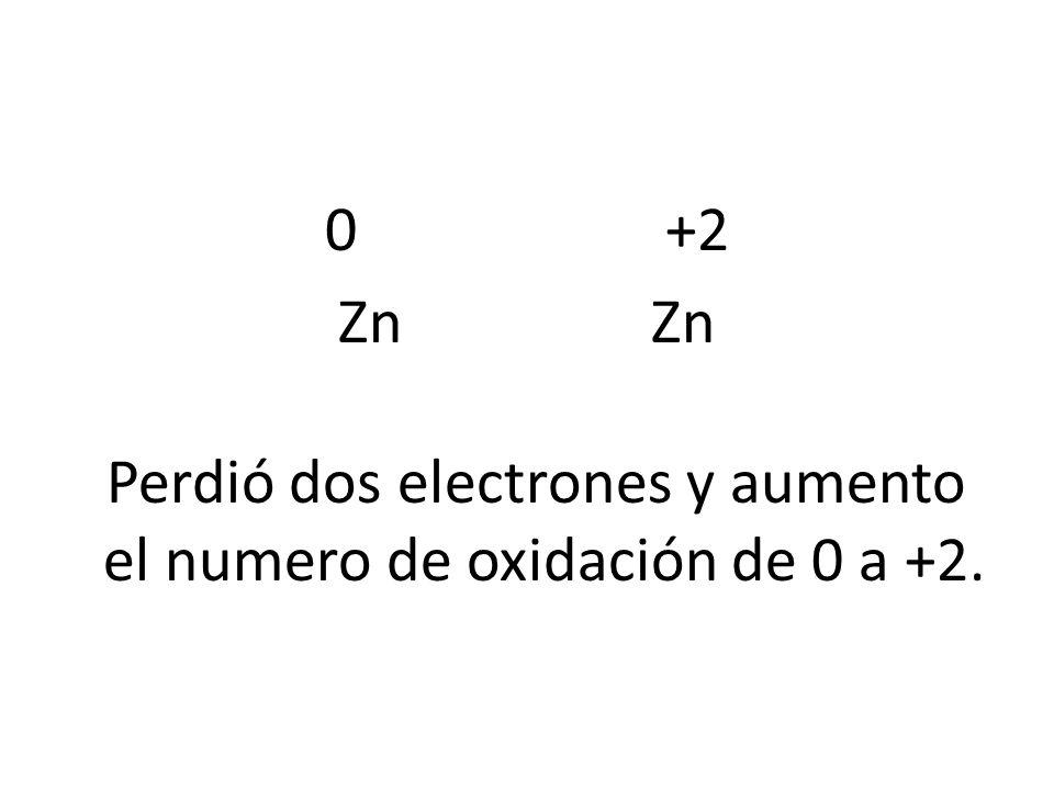 0 +2 Zn Zn.