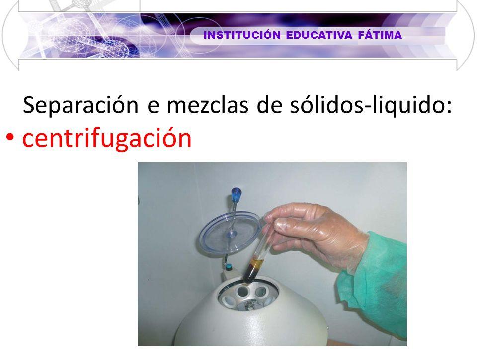 Separación e mezclas de sólidos-liquido: