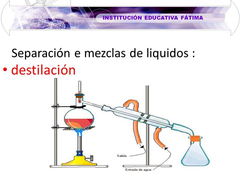 Separación e mezclas de liquidos :