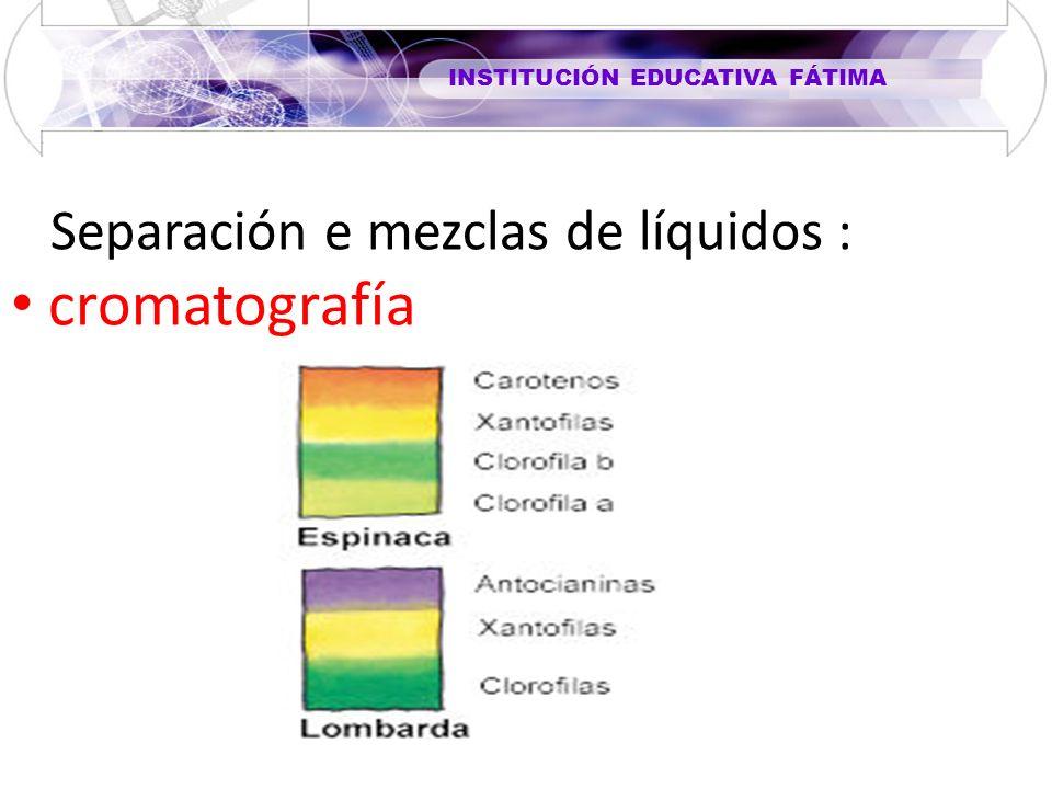 Separación e mezclas de líquidos :