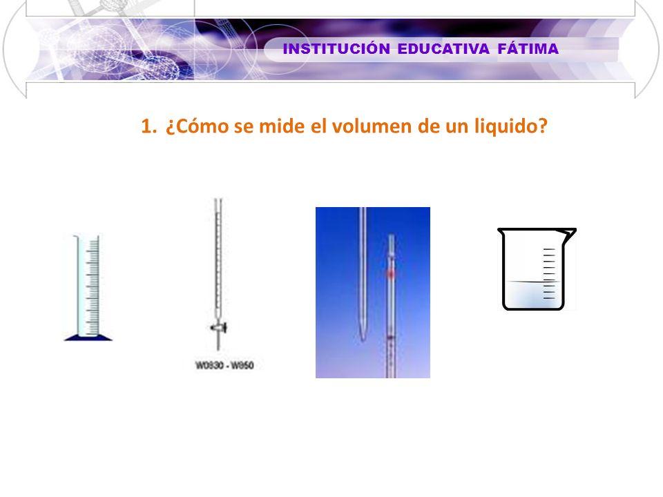 ¿Cómo se mide el volumen de un liquido