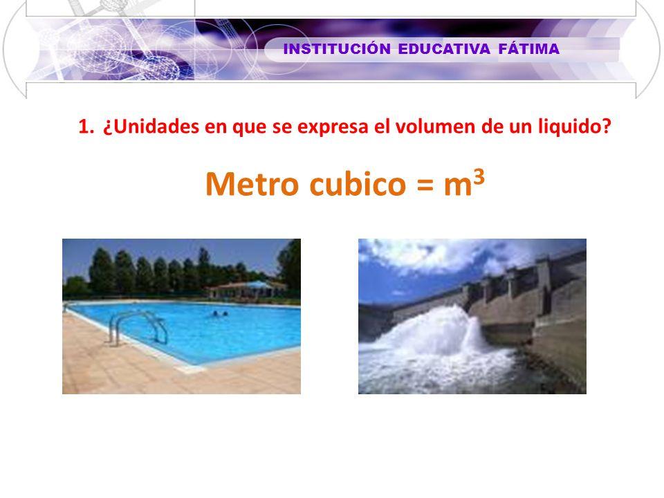 ¿Unidades en que se expresa el volumen de un liquido