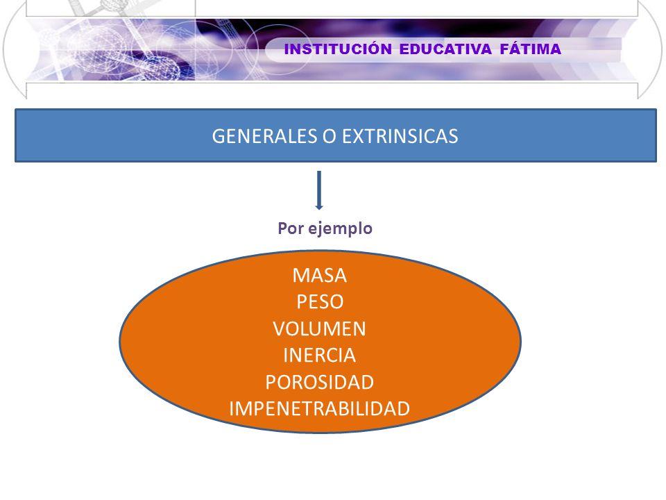 GENERALES O EXTRINSICAS