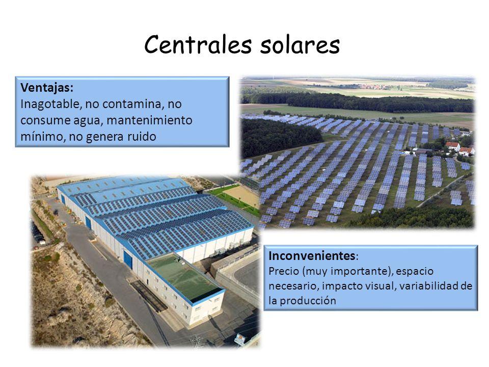 Centrales solares Ventajas: