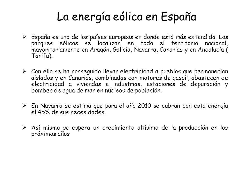 La energía eólica en España