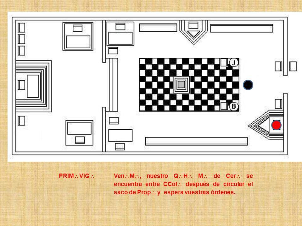 PRIM\VIG\ Ven\M\, nuestro Q\H\ M\ de Cer\ se encuentra entre CCol\ después de circular el saco de Prop\ y espera vuestras órdenes.