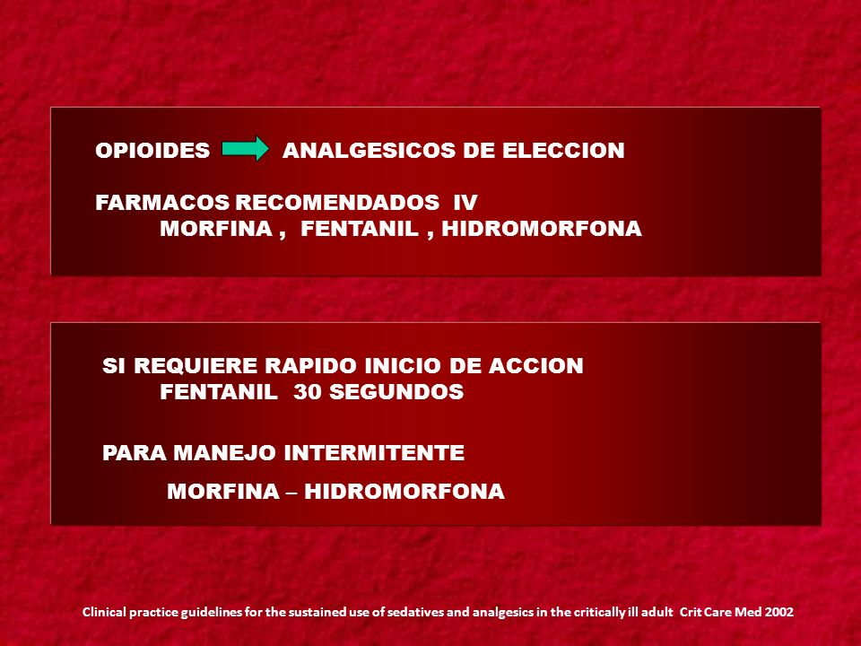 OPIOIDES ANALGESICOS DE ELECCION FARMACOS RECOMENDADOS IV
