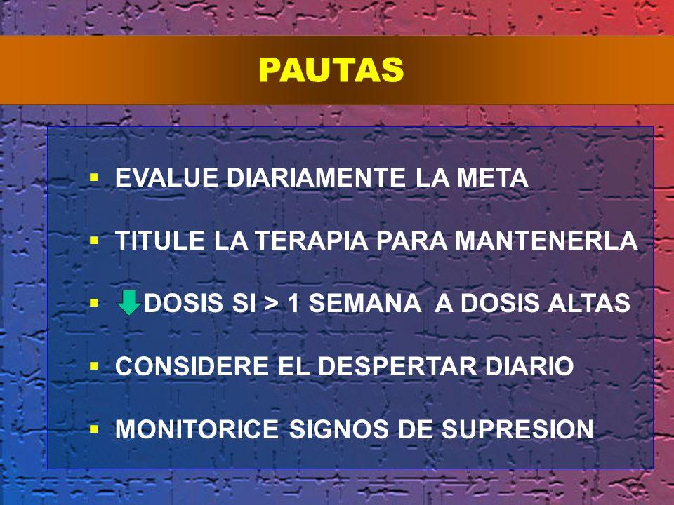 PAUTAS EVALUE DIARIAMENTE LA META TITULE LA TERAPIA PARA MANTENERLA