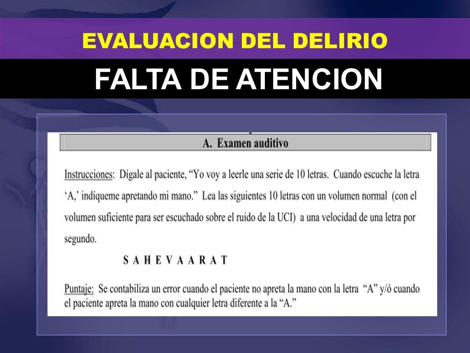 EVALUACION DEL DELIRIO