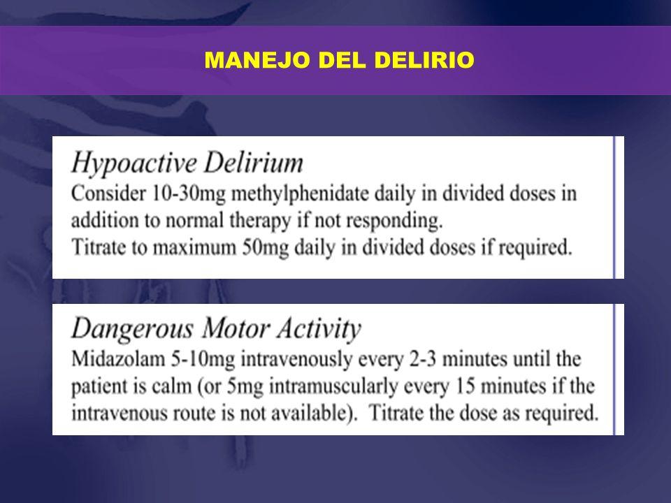 MANEJO DEL DELIRIO Atypical antipsychotics