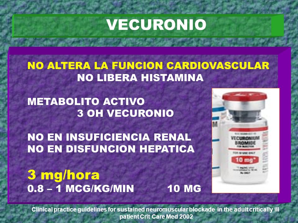 VECURONIO 3 mg/hora NO ALTERA LA FUNCION CARDIOVASCULAR