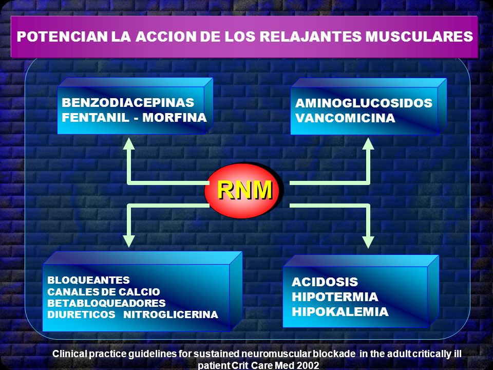 RNM POTENCIAN LA ACCION DE LOS RELAJANTES MUSCULARES BENZODIACEPINAS