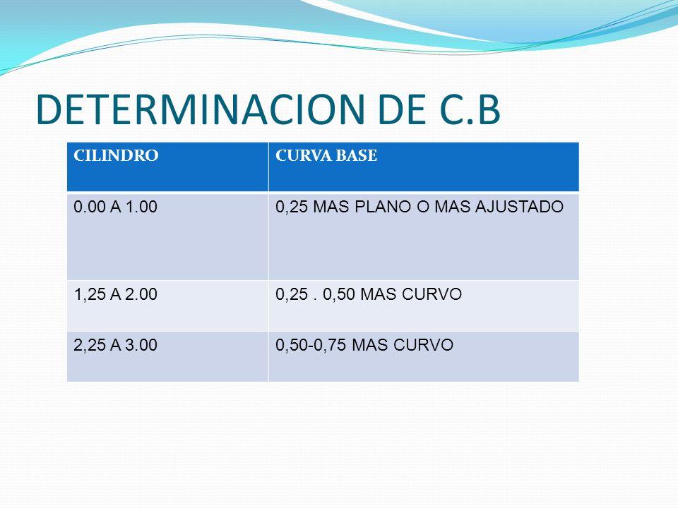 DETERMINACION DE C.B CILINDRO CURVA BASE 0.00 A 1.00