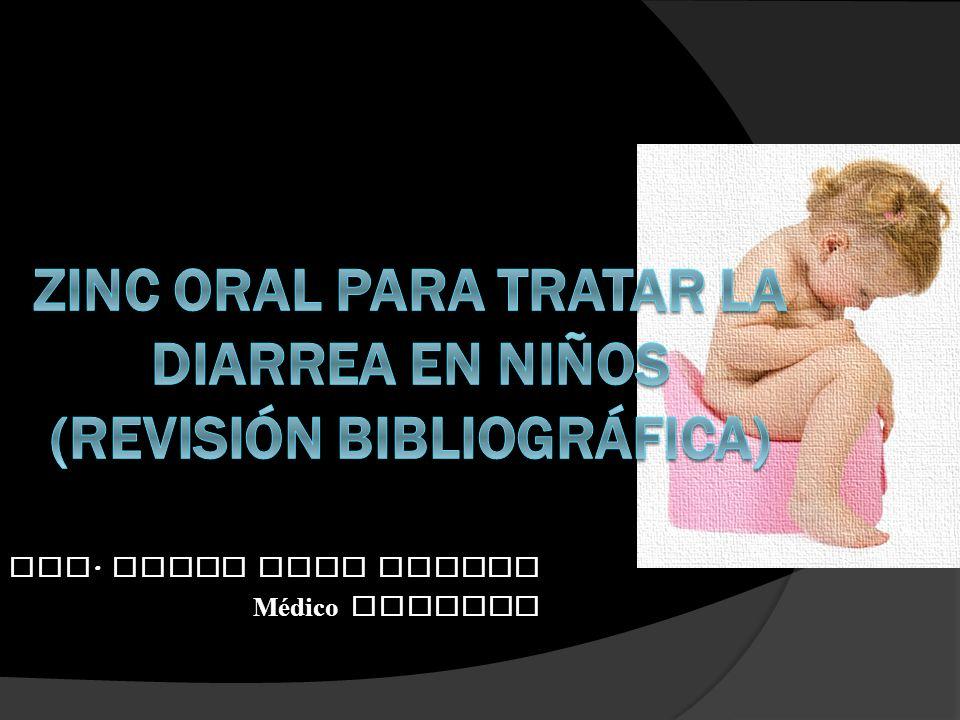 Zinc oral para tratar la diarrea en niños (Revisión Bibliográfica)