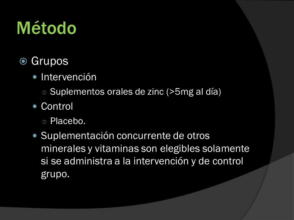 Método Grupos Intervención Control