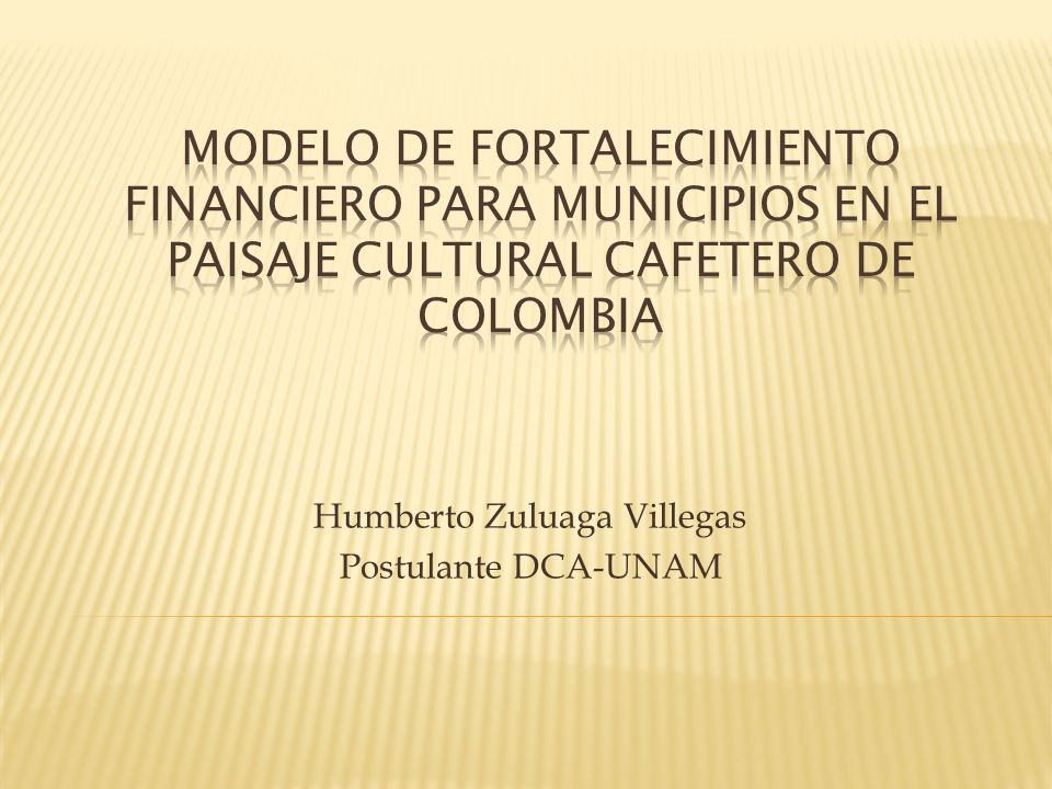 Humberto Zuluaga Villegas Postulante DCA-UNAM