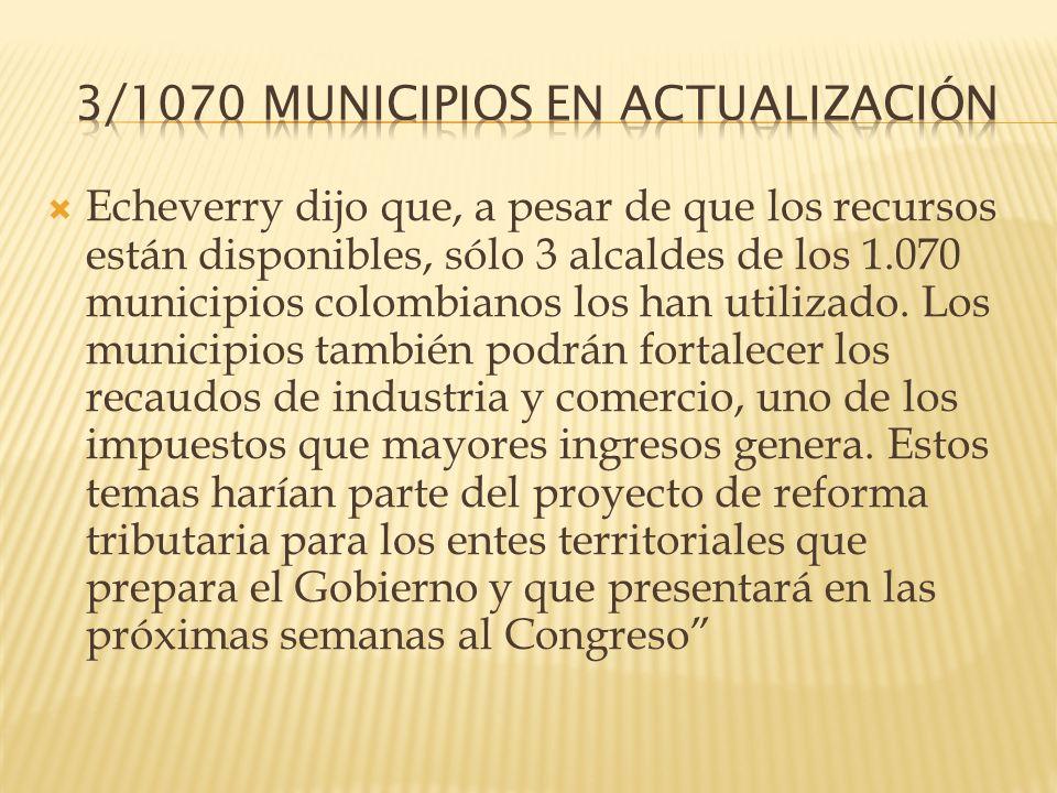 3/1070 MUNICIPIOS EN ACTUALIZACIÓN