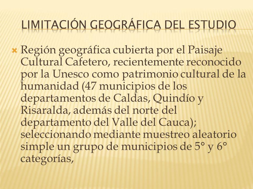 LIMITACIÓN GEOGRÁFICA DEL ESTUDIO